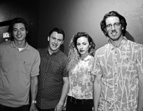 Thrifty Kids Backstage at The Edge's Next Big Thing