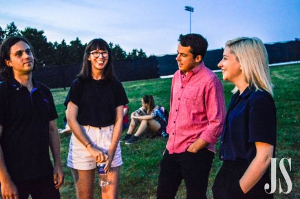 Alvvays before their set Saturday night